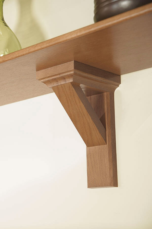 arts & crafts open angle corbel