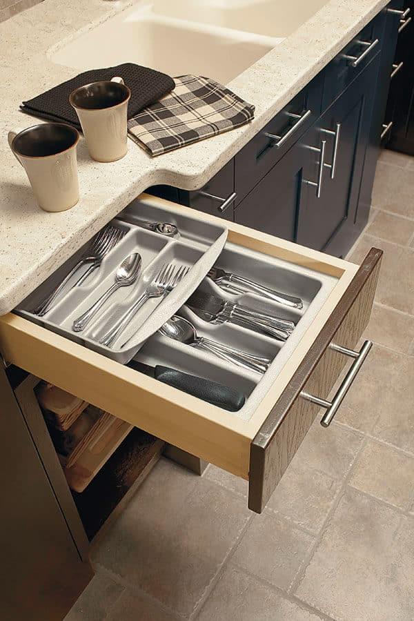 double cutlery tray