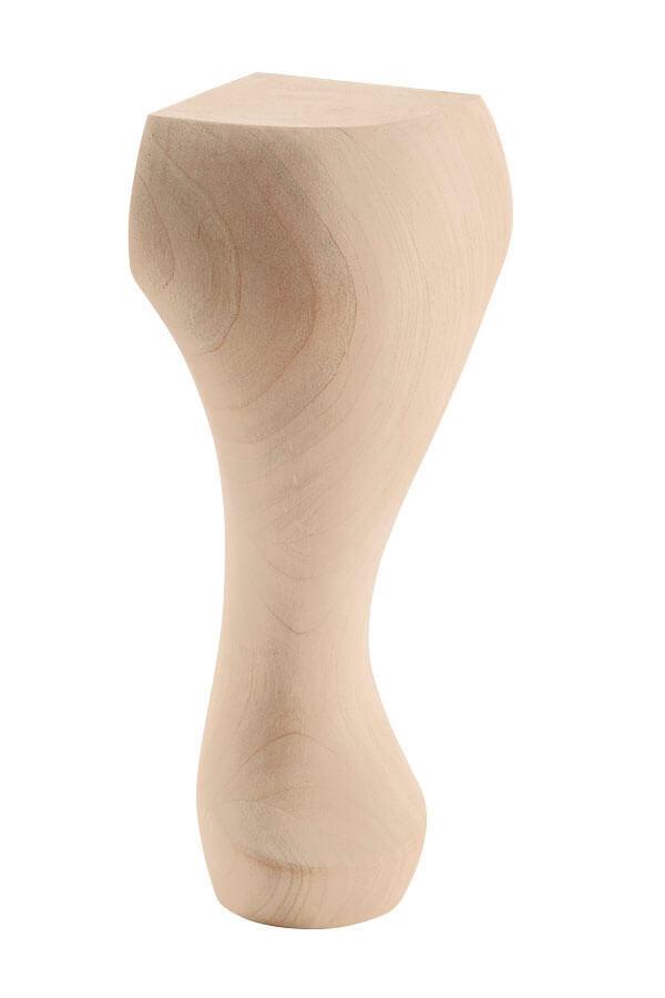 queen anne round cabinet foot