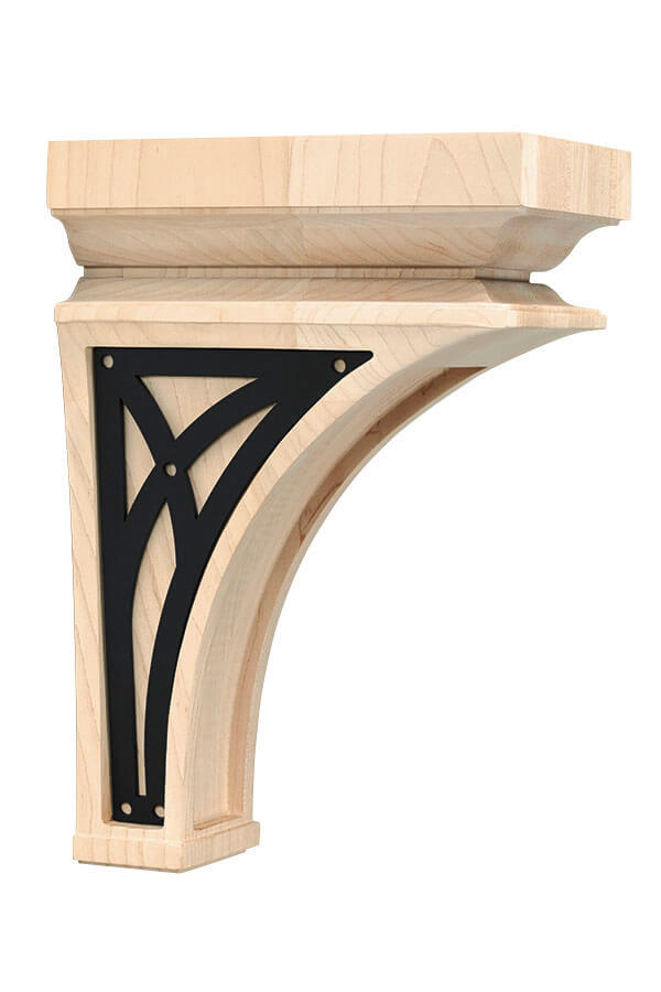 large nouveau insert corbel with abbey insert