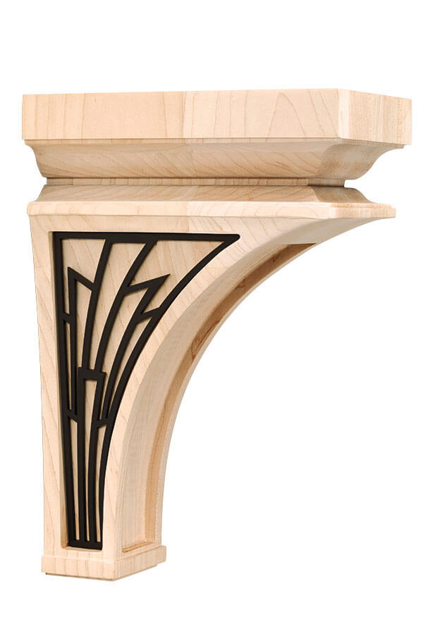 large nouveau insert corbel with basilica insert