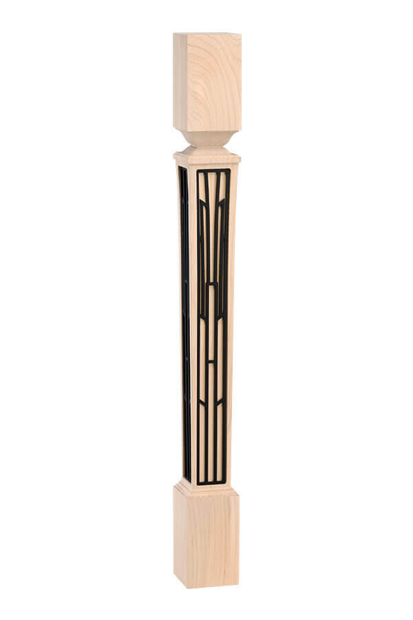 nouveau cabinet leg with basilica insert – tall