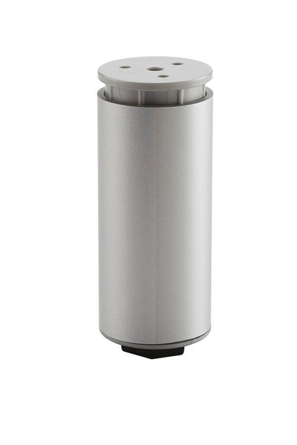 chrome round cabinet leg