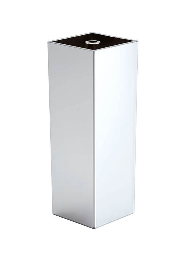 chrome square cabinet leg