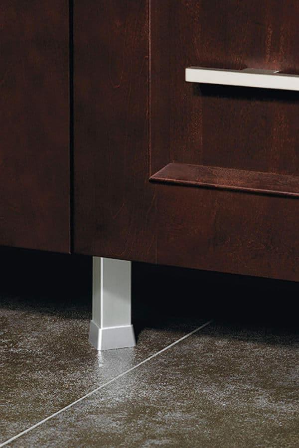 aluminum square cabinet leg