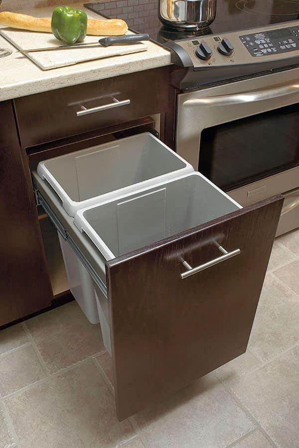 slide-out waste center cabinet