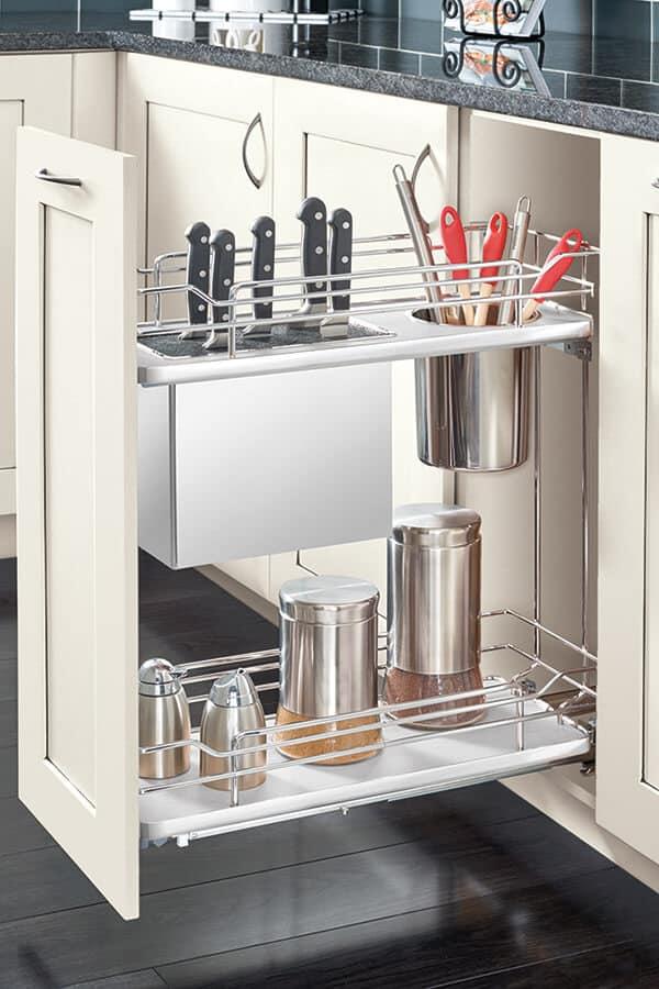 base knife holder pull out cabinet