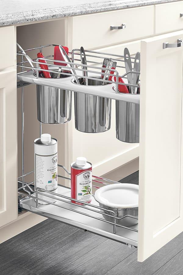 base utensil holder pull out cabinet