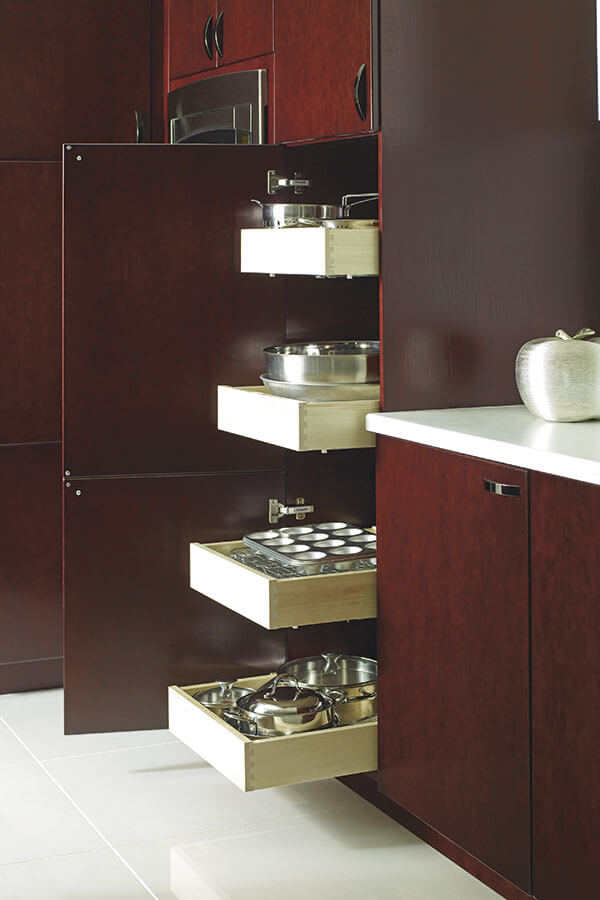 utility cabinet with slide out trays