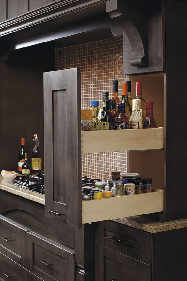 wall pantry pull out cabinet